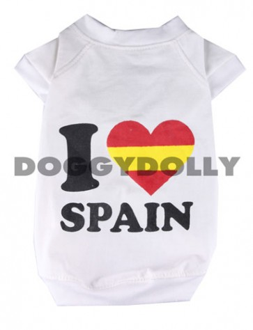 Camiseta España para perros y mascotas