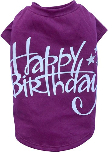 "Camiseta para mascotas ""Happy Birthday"""