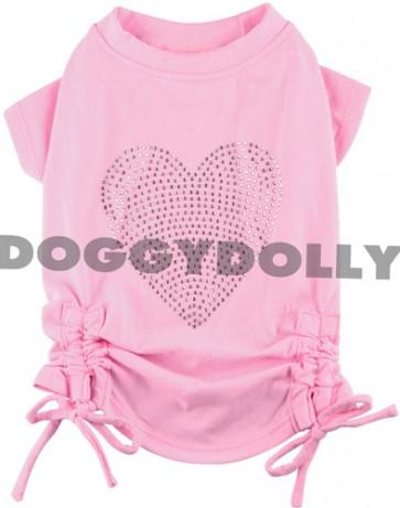 Camiseta rosa mascota con pedrería