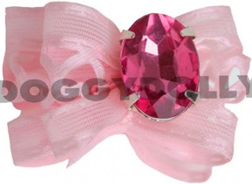 Lazo rosa con brillante Doggydolly