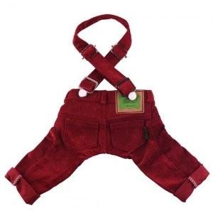 Pantalones de pana rojo