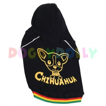 Sudadera negra para Chihuahua