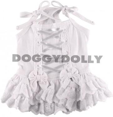 Vestido blanco para perros y mascotas