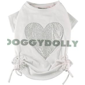 Camiseta para perro con pedrería