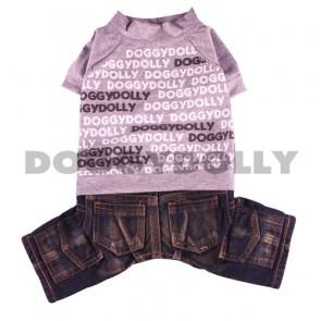 Camiseta y tejanos para perro Doggydolly