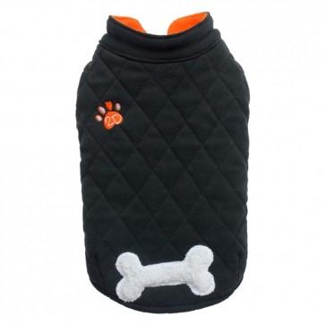 Abrigo polar negro para perros