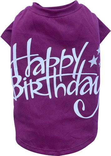 "Camiseta para mascotas ""Happy Birthday"""