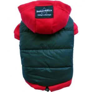 Abrigo para perros Negro y rojo