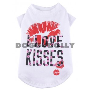"Camiseta caninca ""I love kisses"""
