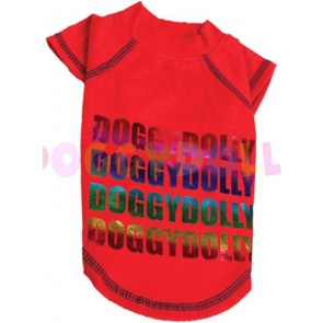 Camiseta roja Doggydolly