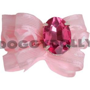 Lazo rosa con brillante Doggydolly
